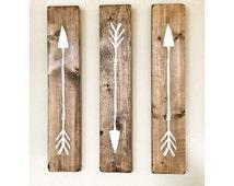Rustic White Wooden Arrows - 3 Piece Set, Rustic Decor, Farmhouse Decor, Arrow Decor, Rustic Nursery Decor, Gallery Wall Decor, Wooden Arrow