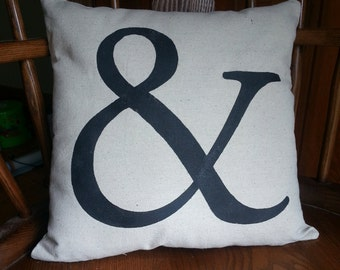 Ampersand Pillow | And Pillow | Typography Throw Pillow | Home Decor Accent Pillow | Wedding Gift | Engagement Gift | Housewarming Gift
