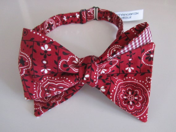 bow tie bandana and gingham fabric by forgetmeknotsnrp