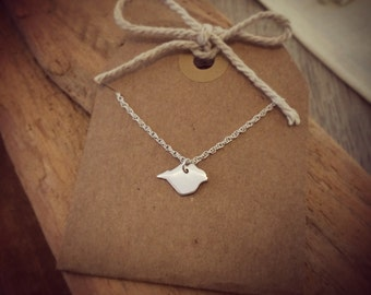 Isle of Wight Pendant Necklace in Brushed Silver