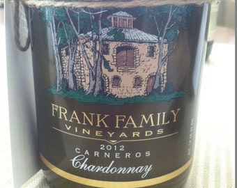Recycled Frank Family Wine Bottle Soy Candle