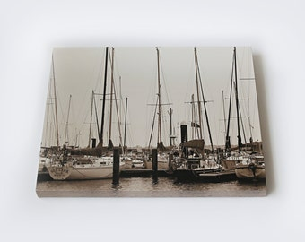 Downtown Marina, Corpus Christi Gallery-Wrapped Canvas