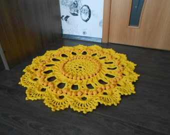 "Crocheted rug ""Sunflower"""