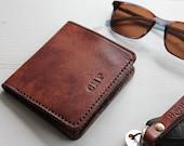 Handmade Slim Leather Bi-Fold Wallet