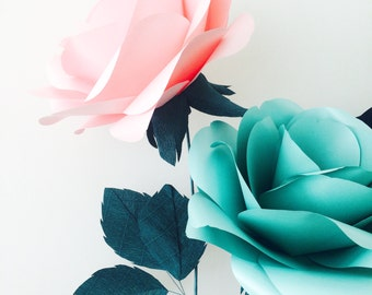 Mint Paper Rose - Eco-Friendly Huge Giant Decorative Flower for Weddings, Bridal Shower, Baby Shower or Summer Parties