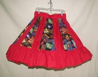 Cross Fire Works - square dance skirt