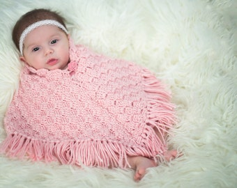 Hand-Crocheted Baby Ponchos