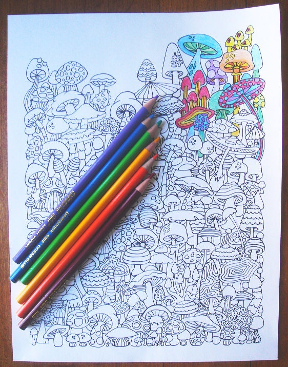 coloring pages of shrooms - photo#42