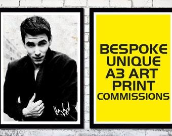 Bespoke Unique A3 Art Print Commissions // Your Design Idea Brought To Life