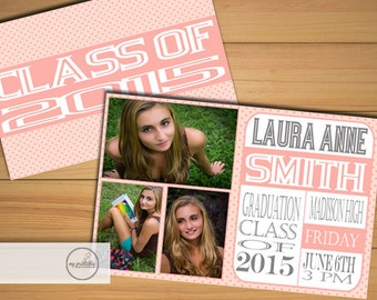 Photo Graduation Invitation / Digital Printable College Invite / DIY High School Party
