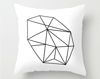 Decorative Pillow Cover, pillow abstract black white, black white Cushion cover, Decorative Pillow