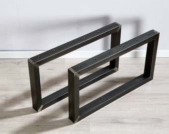 Legs of raw steel for coffee table, coffee table, table custom built
