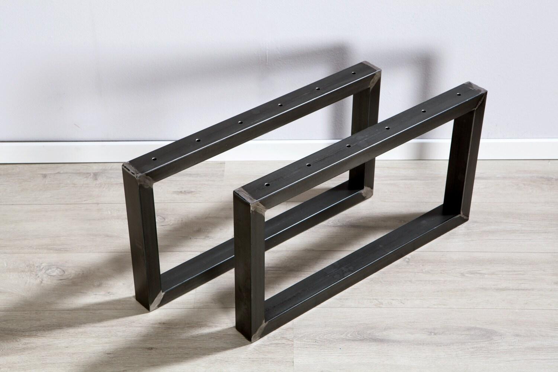 tischbeine aus rohem stahl f r couchtisch beistelltisch. Black Bedroom Furniture Sets. Home Design Ideas