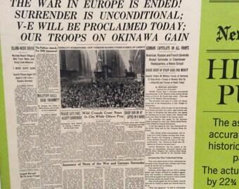 New York Times historic  V-E Day puzzle