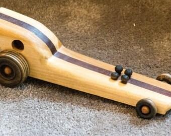 Handmade Wooden Dragster