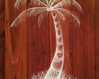 Hawaiian wedding wooden sign