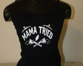 Grateful Dead/Merle Haggard Shirt  ladies spag. strap tank top