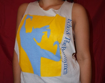 Vintage Echo and the Bunnymen sleeveless muscle tee top