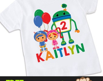 Team Umizoomi 2 birthday Tshirt Shirt