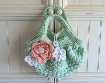 Fat Bottom Bag/Purse/Handbag  Crochet/Handmade