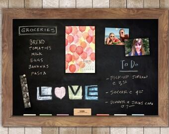 Barnboard Framed Magnetic Chalkboard