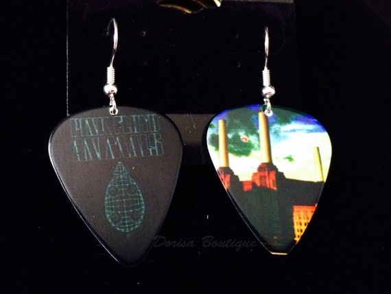guitar pick earrings pink floyd collectible guitar picks. Black Bedroom Furniture Sets. Home Design Ideas