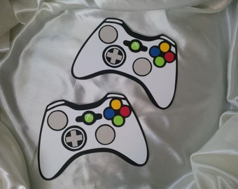Xbox Inspired Video Game Controllers Set of 2 Birthday Party Wall Decor Cuts