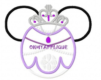 Character Inspired Little Princess Sofia Embroidery Applique Design