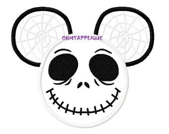 Character Nightmare Jack with Spiderweb Embroidery Applique Design