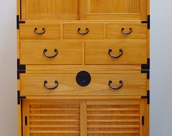 Japanese style 2 sections clothing chest, dresser, isho dansu. (KB36)