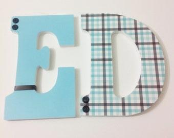Custom Boy Nursery Letters, Wooden Letters, Hanging Nursery Letters, Personalized Letters