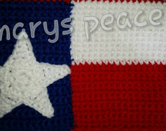 Close out!! Crochet Texas Flag tablet sleeve/case. Fits up to 7 inch tablet.