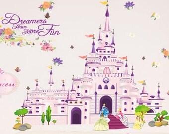 Nursery Princess Wall Decals, Nursery Princess Wall Stickers, Nursery Wall Decals