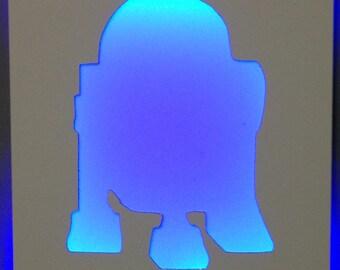 R2D2 Illuminated Wall Art