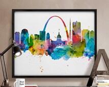 saint louis saint louis print saint louis poster missouri city prints