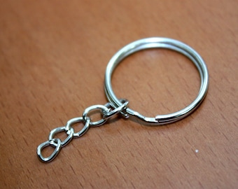 24 pcs 25 mm Key Chain Ring Silver Color