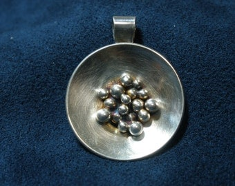 """Sterling Silver """"Nuggets in a Pan"""" Necklace"""