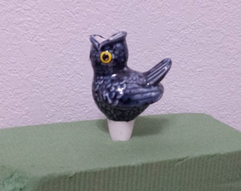 Ceramic Blue Bird Planttender (#166) Put water in Birds mouth and the water will seep thru the bottom into the soil