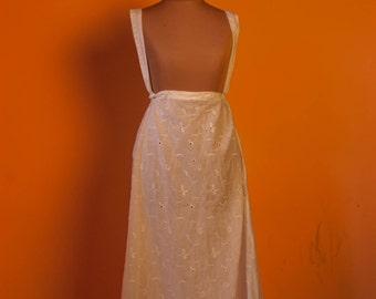 Regency eyelet Petticoat petticoat to fit underbust cotton