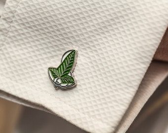 LOTR Leaf of Lorien Cuff Links - Middle Earth, The Hobbit, J. R. R. Tolkien
