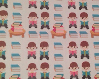 Library reading book stickers -  for your EC planner