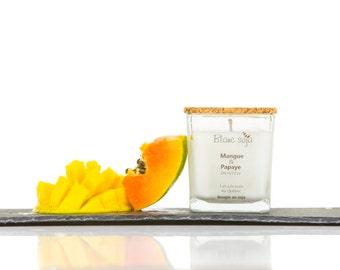 Mango and papaya, soy candle