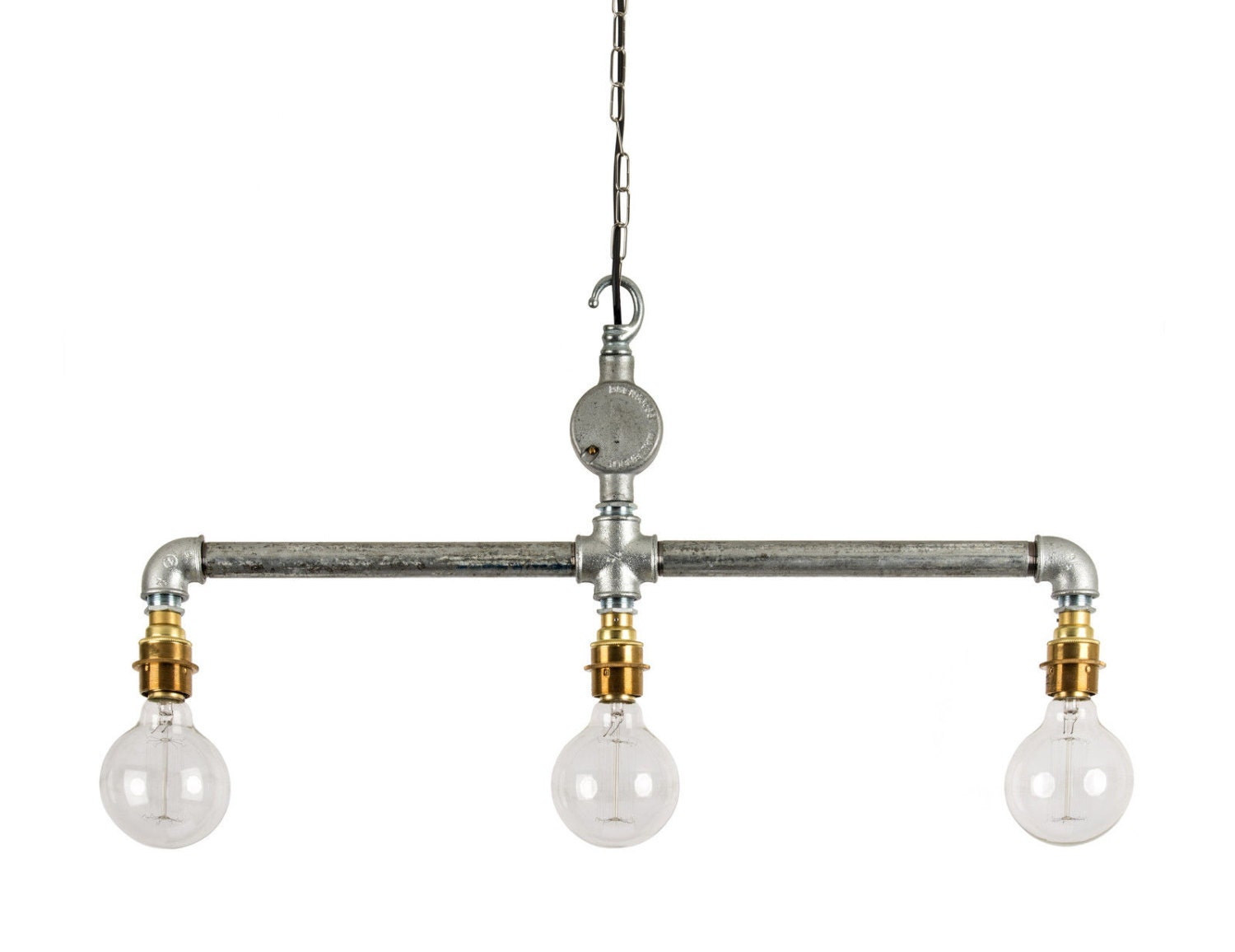 Industrial Steel Conduit Ceiling Hanging Pipe Light E27 Bar