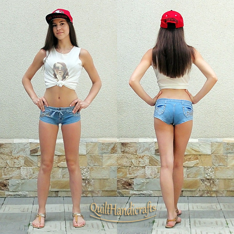 Low Waist Shorts Ripped denim shorts Denim short girl Summer