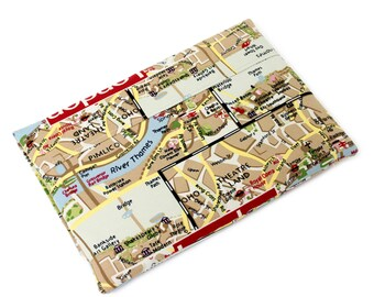 """New Macbook Sleeve, Unique Gift for Women, 12 inch laptop sleeve, 11 inch Macbook Air, 12"""" Laptop Sleeve, Fabric Case, London Map"""