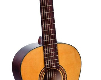 7 String Acoustic Guitar, Solid Wood, NEW