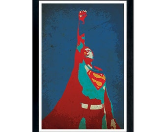 Superman Poster 11x 17 - wall decor