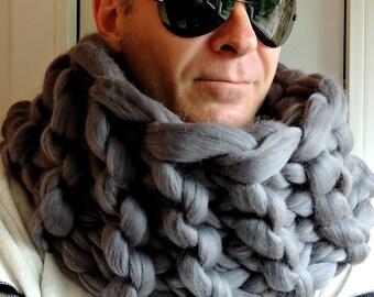 Chunky Men Scarf, Scarf Men, Chunky scarf for men, Men's Chunky Scarf, Wool Scarf, Infinity scarf, Merino Scarf, Chunky yarn