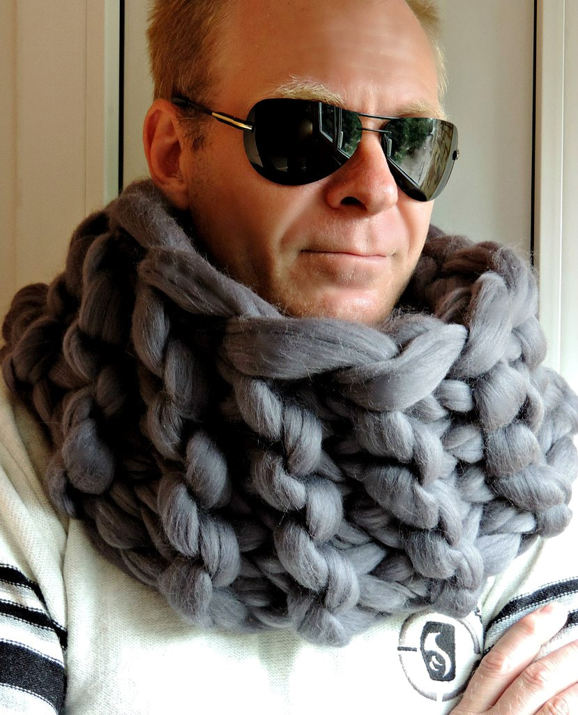 Chunky Men Scarf Scarf Men Chunky Scarf For Men Men S