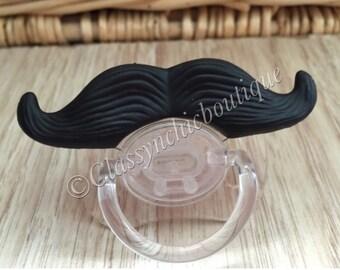 Mustache Pacifier ( Black )